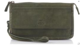 Bear Design clutch/portemonne 'Romy'| olijf groen