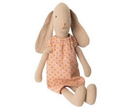 Maileg Bunny maat 2 | konijn met nachthemd peach