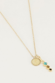 My Jewellery | ketting bedel & donkere edelsteentjes goud