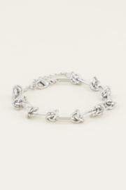 My Jewellery | armband  knoopjes zilver
