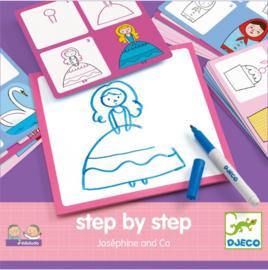 Djeco step by step tekenen   prinsessen dingen van Josephine & co