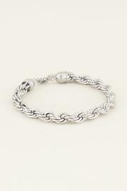 My Jewellery | armband gedraaide schakels zilver