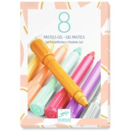 Djeco 8 Pastel Gelstiften
