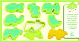 Djeco Klei vormpjes & stempels - Huisdieren