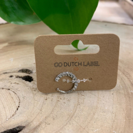 Go Dutch Label | Earcuff diamantjes zilver