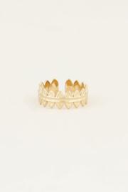 My Jewellery | verstelbare ring kleine ovaaltjes goud