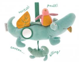 Moulin Roty babyspeeltje | sous mon baobap krokodil activiteiten knuffel