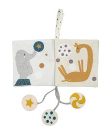 Snoozebaby stoffen buggyboekje | circus activiteitenboekje
