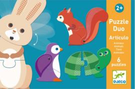 Djeco duo puzzel | bewegende dieren