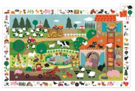 Djeco puzzel observation   boerderij (35st)