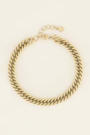 My Jewellery   armband brede schakels zilver