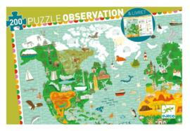 Djeco puzzel observation   werelddieren 200 stukjes