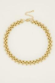 My Jewellery    Ketting schakels groot goud