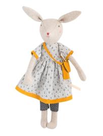 Moulin Roty knuffelpop | famille mirabelle mama konijn Rose