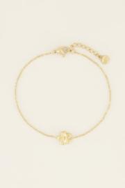 My Jewellery   armband violet goud