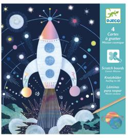Djeco knutselen | kraskaarten ruimtemissie