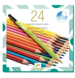 Djeco Aquarelpotloden | 24 stuks