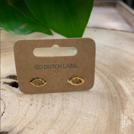 Go Dutch Label | oorbellen ovaal goud