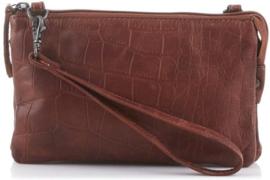 Bear Design clutch en schoudertas | croco cognac