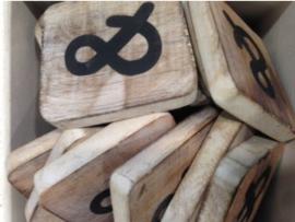 cottoncounts houten letter   symbool &