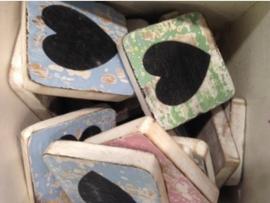 cottoncounts houten letter   symbool hartje