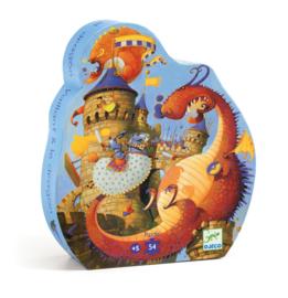Djeco puzzel | de ridder en de draak