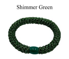 black colour elastiek | Kally elastic shimmer green