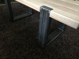 Salontafel  met metalen frame op maat