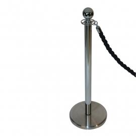 Absperrkordel klassisch Schwarz 32 mm. - mehr info