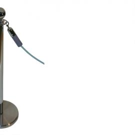 Absperrkordeln ProfLine Grau 40 mm. - mehr info