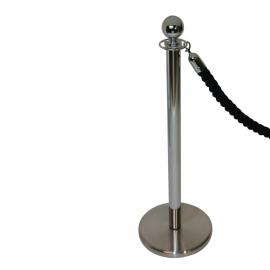 Absperrkordel klassisch Schwarz 40 mm. - mehr info