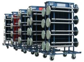Transportwagen für 16 Absperrständer und 40 Kordeln - mehr info
