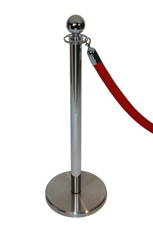 Absperrkordeln ProfLine festlich Rot 40 mm. - mehr info