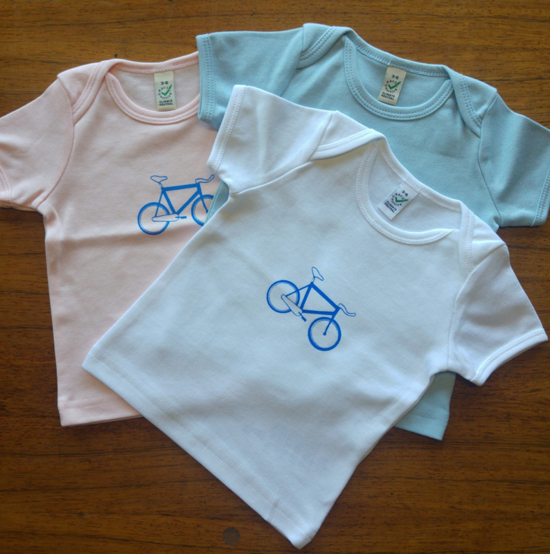 T-shirt: BABY Racefiets