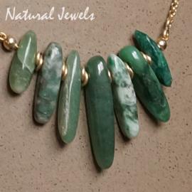 gouden kettinkje Afrikaanse Jade