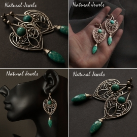 zilveren oorbellen Russisch Amazoniet