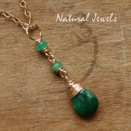 Edelsteenhangertjes - Smaragd