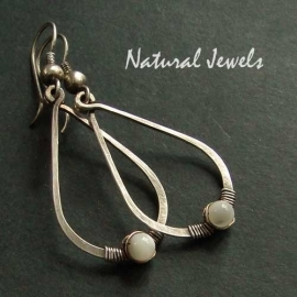 Hammered Drops with Mother of Pearl