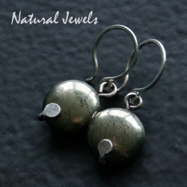 Earrings Pyrite discs