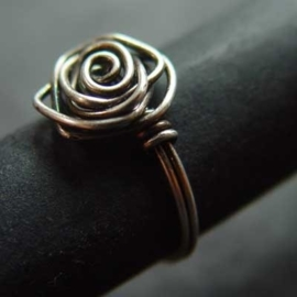 Ring Silver Rose
