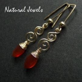 14K Goldfill and Carnelian earrings