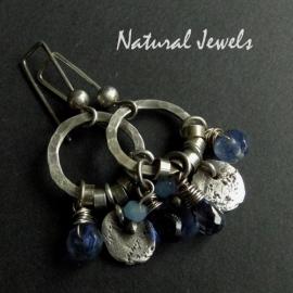 Denimblue earrings