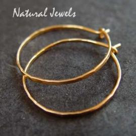 Golden Sparkling Hoops - medium