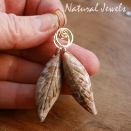 Bruine edelsteen oorbellen