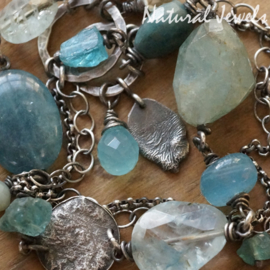 Aquamarijn armband van zilver