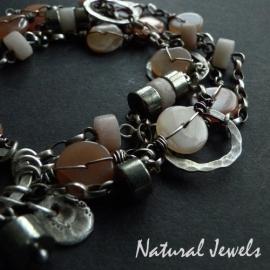 Bracelet Peach Moonstone