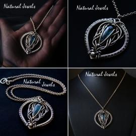 Necklace Celtic Moss Kyanite