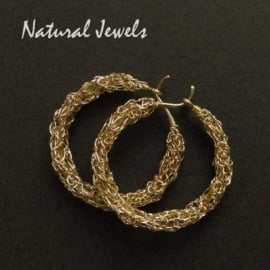 Golden Organic Hoops - medium