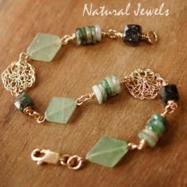 Groene edelsteen Armband