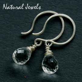 zilveren oorbellen Bergkristal